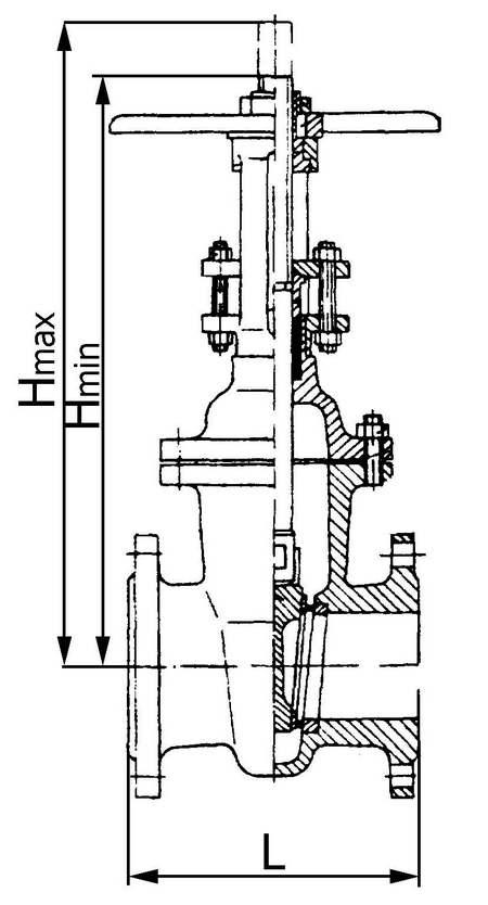 Задвижка клиновая с выдвижным шпинделем, пр-ва MAW